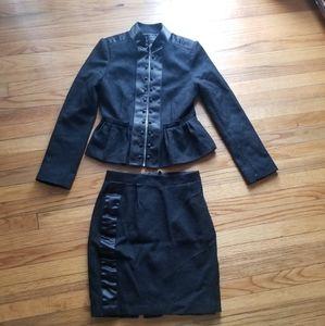 BCBG Maxazria Wool Blazer and skirt